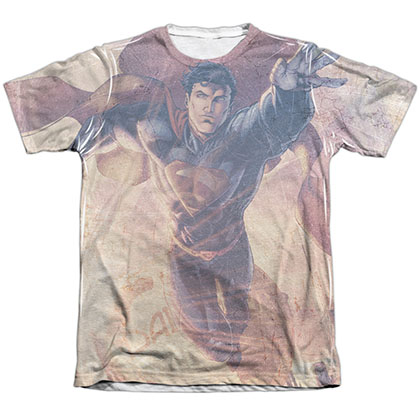 Superman Soar Above Sublimation T-Shirt