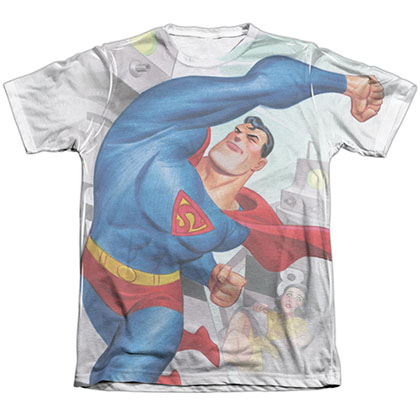 Superman Classic Robots Sublimation T-Shirt