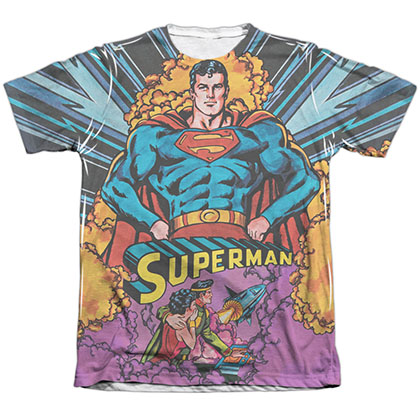 Superman Blast Off Sublimation T-Shirt