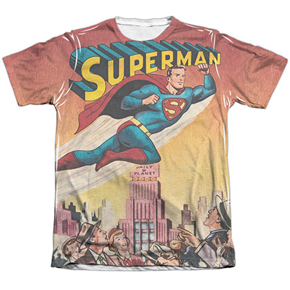 Superman City Flying Sublimation T-Shirt