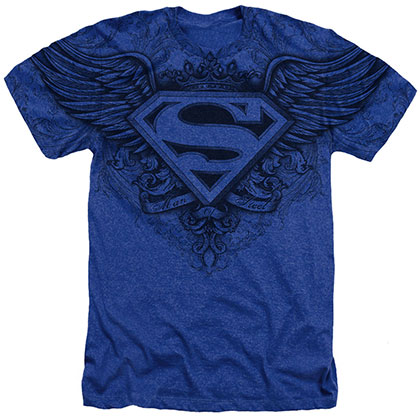 Superman Sublimated Logo Blue T-Shirt