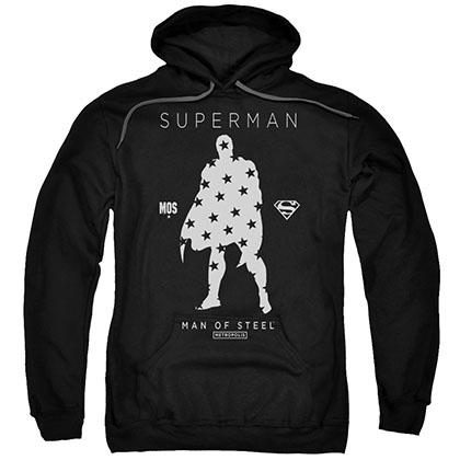 Superman Stars Silhouette Black Pullover Hoodie
