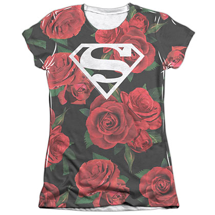 Superman Roses Sublimation Juniors T-Shirt