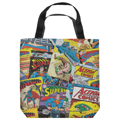 Superman Vintage Comics Tote Bag