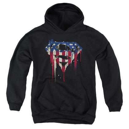 Superman Bleeding USA Logo Youth Hoodie
