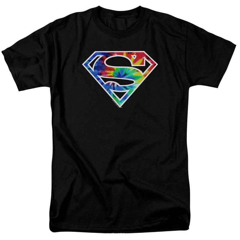 Superman Tie Dye Logo Tshirt