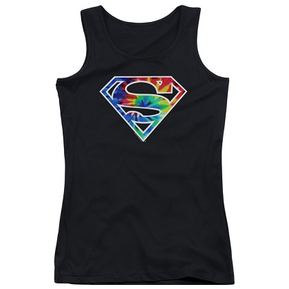 Superman Tie Dye Logo Women's Tank Top