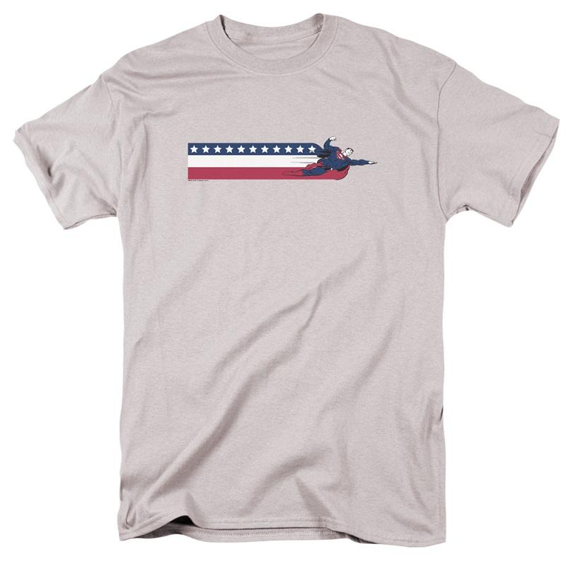 Superman Flying American Flag Tshirt