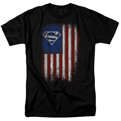 Superman Old Glory Tshirt