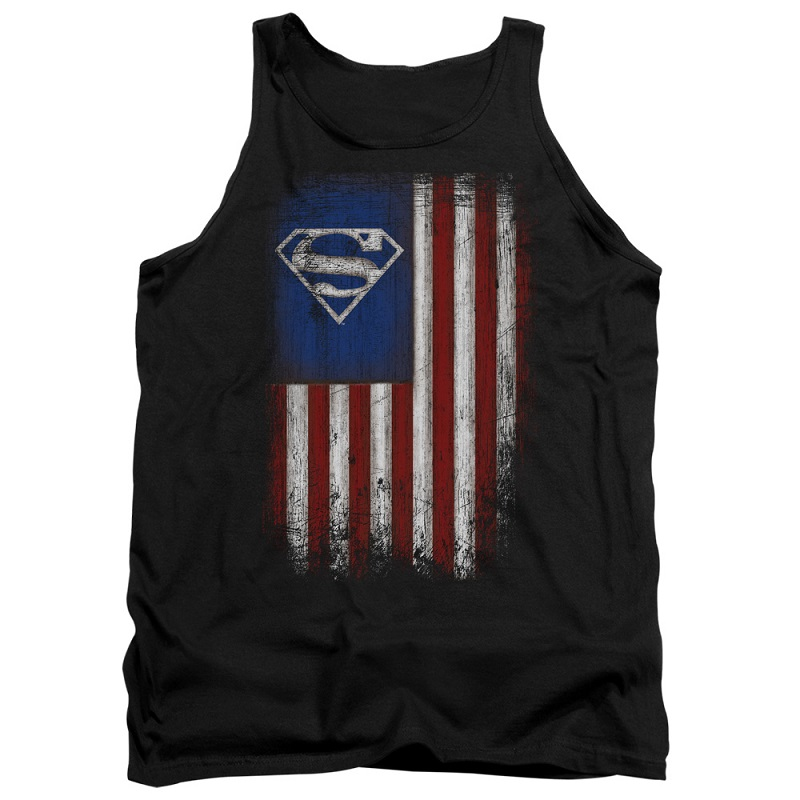 Superman Old Glory American Flag Tank Top