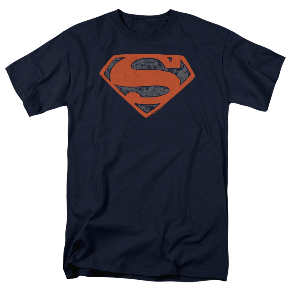 Superman Vintage Shield Navy Blue Tshirt