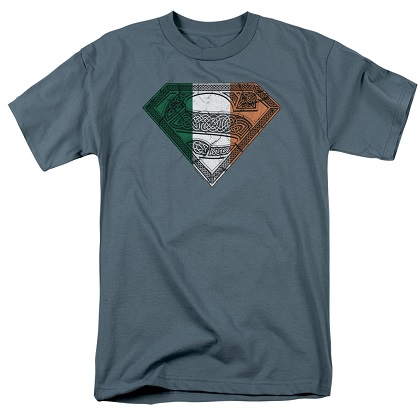 Superman Celtic Flag Logo Tshirt