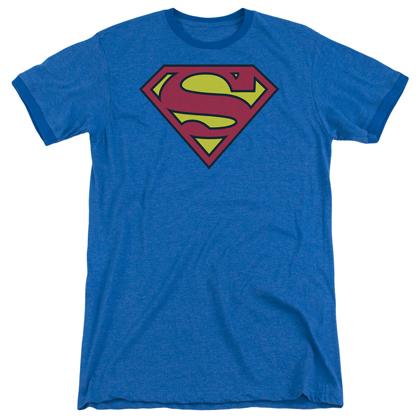 Superman Classic Logo Ringer Tshirt