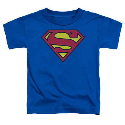Superman Classic Logo Toddlers Tshirt