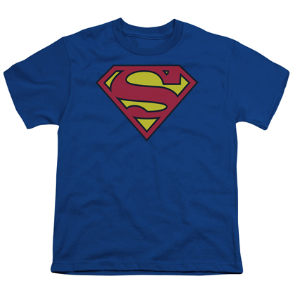 Superman Classic Logo Youth Tshirt