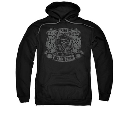 Sons Of Anarchy Original Reaper Crew Black Pullover Hoodie