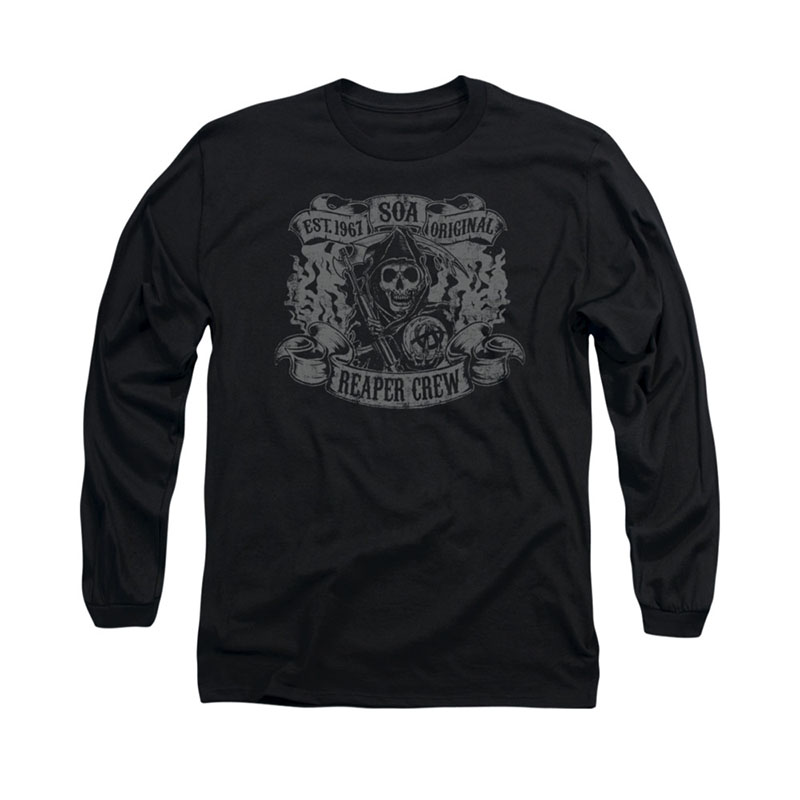 Sons Of Anarchy Original Reaper Black Long Sleeve T-Shirt