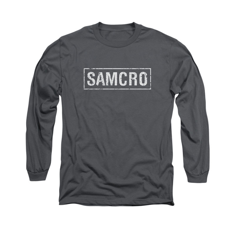 Sons Of Anarchy SAMCRO Gray Long Sleeve T-Shirt