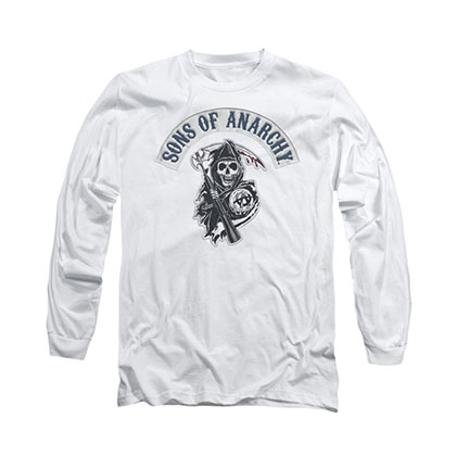 Sons Of Anarchy Bloody Sickle White Long Sleeve T-Shirt