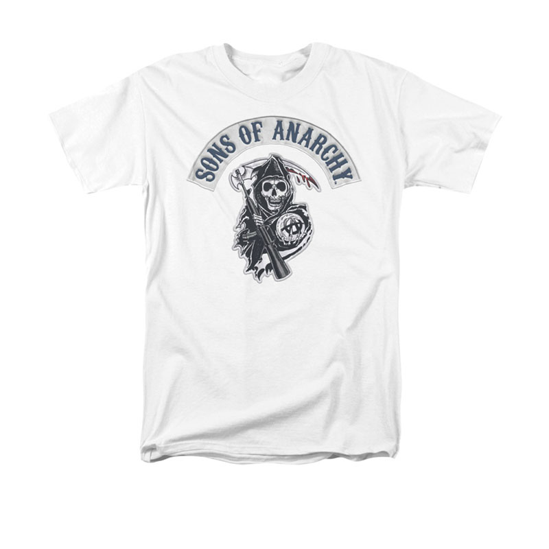 Sons Of Anarchy Men's White Bloody Sickle T-Shirt