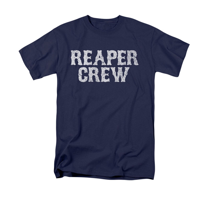 Sons Of Anarchy Men's Blue Reaper Crew Tee Shirt