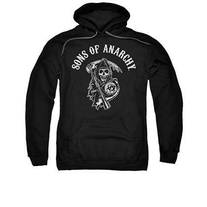 Sons Of Anarchy SOA Reaper Black Pullover Hoodie