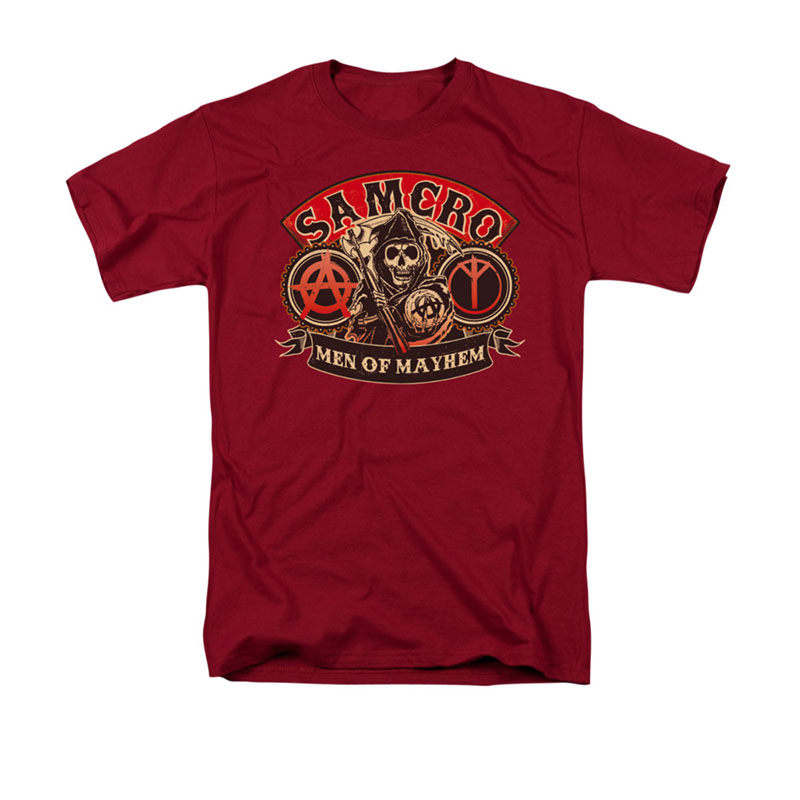 Sons Of Anarchy Men Of Mayhem Red Tee Shirt