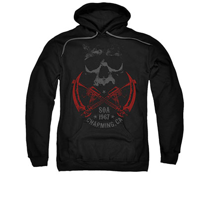 Sons Of Anarchy Cross Guns Black Pullover Hoodie