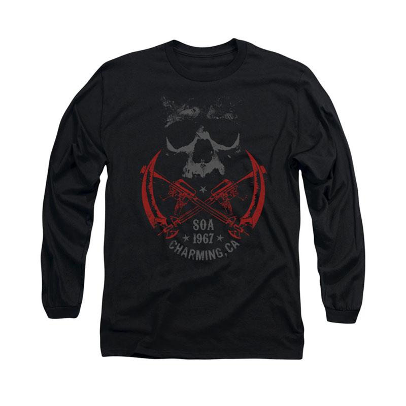 Sons of anarchy cross guns black long sleeve t shirt for Cross counter tv shirts