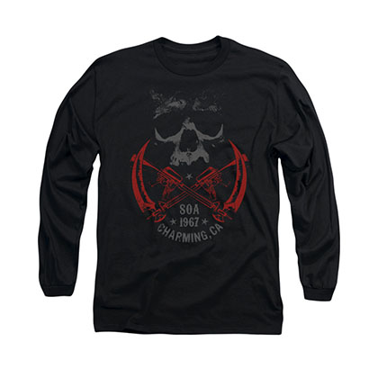 Sons Of Anarchy Cross Guns Black Long Sleeve T-Shirt
