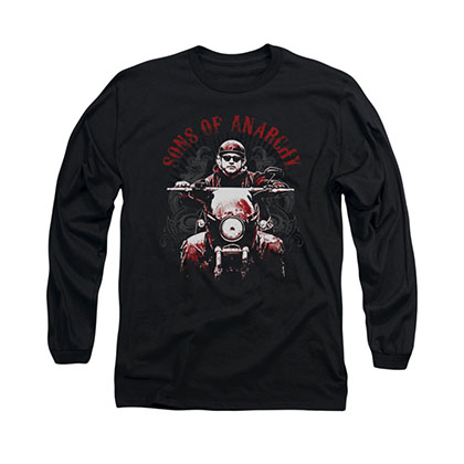 Sons Of Anarchy Ride On Black Long Sleeve T-Shirt