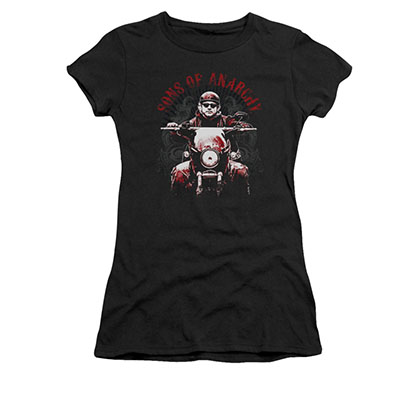 Sons Of Anarchy Ride On Black Juniors T-Shirt