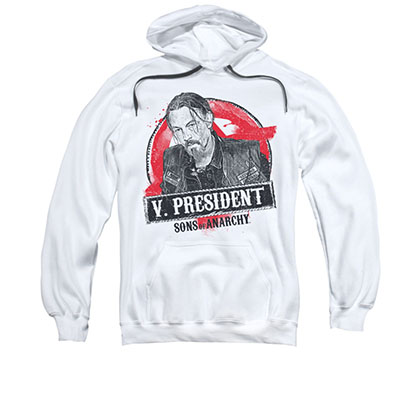 Sons Of Anarchy Vice President White Pullover Hoodie