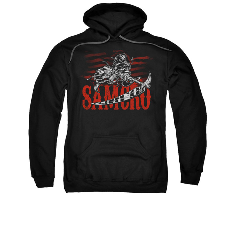 Sons Of Anarchy Acronym Black Pullover Hoodie
