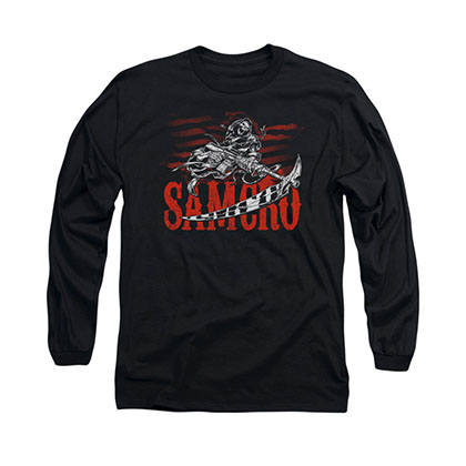 Sons Of Anarchy Acronym Black Long Sleeve T-Shirt