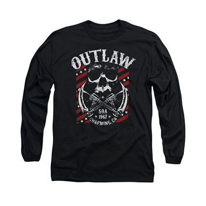 Sons Of Anarchy Outlaw Black Long Sleeve T-Shirt