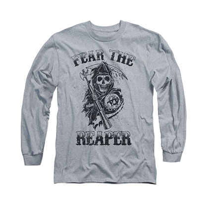 Sons Of Anarchy Fear The Reaper Gray Long Sleeve T-Shirt