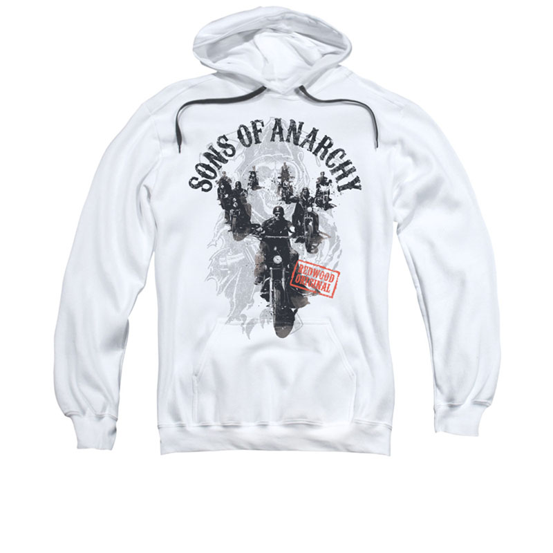 Sons Of Anarchy Reapers Ride White Pullover Hoodie