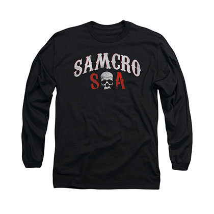 Sons Of Anarchy SAMCRO Forever Black Long Sleeve T-Shirt
