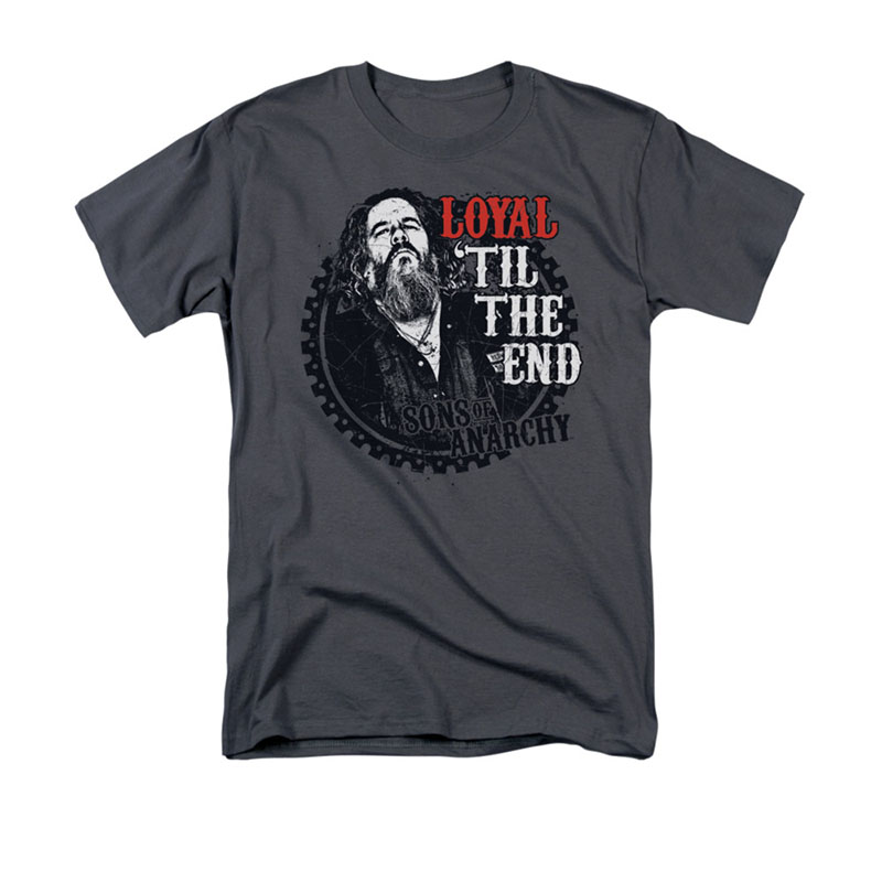 Sons Of Anarchy Men's Gray Loyal Til The End T-Shirt