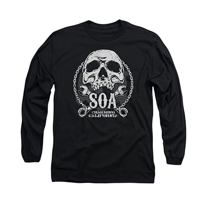 Sons Of Anarchy SOA Club Black Long Sleeve T-Shirt
