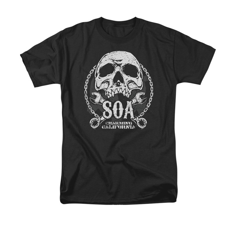 Sons Of Anarchy SOA Club Black T-Shirt