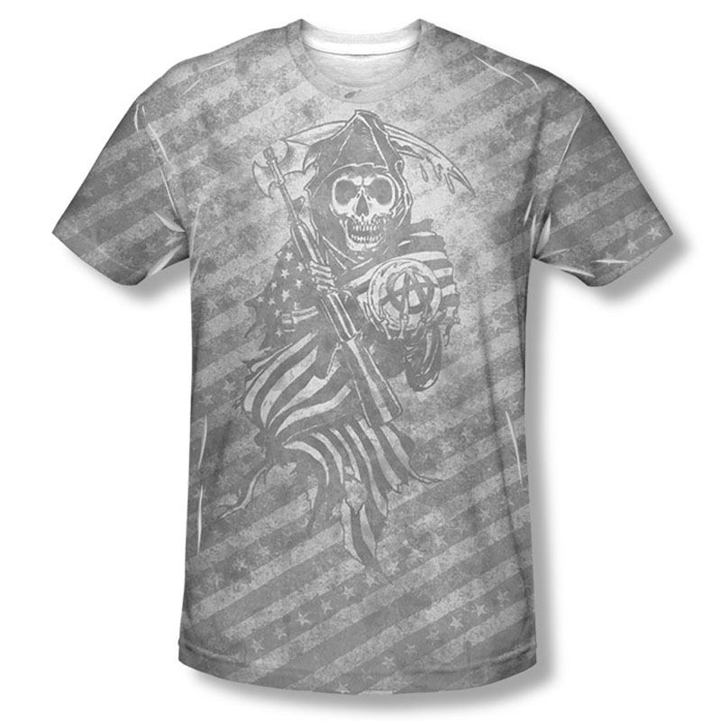 Sons Of Anarchy Black Oyster Club Sublimation T-Shirt