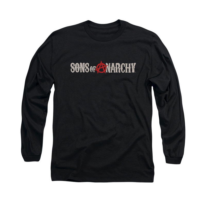 sons of anarchy beat up logo black long sleeve tshirt