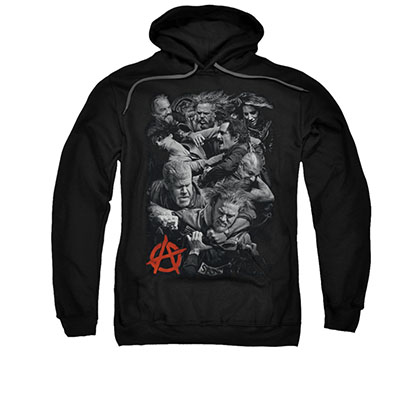 Sons Of Anarchy Group Fight Black Pullover Hoodie