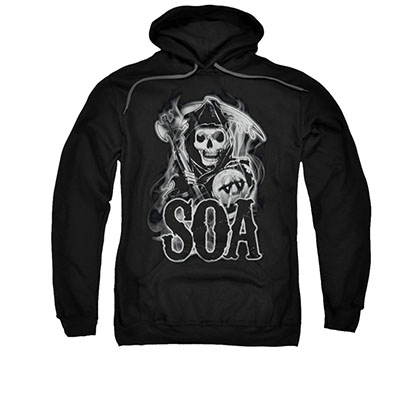 Sons Of Anarchy Smoky Reaper Black Pullover Hoodie