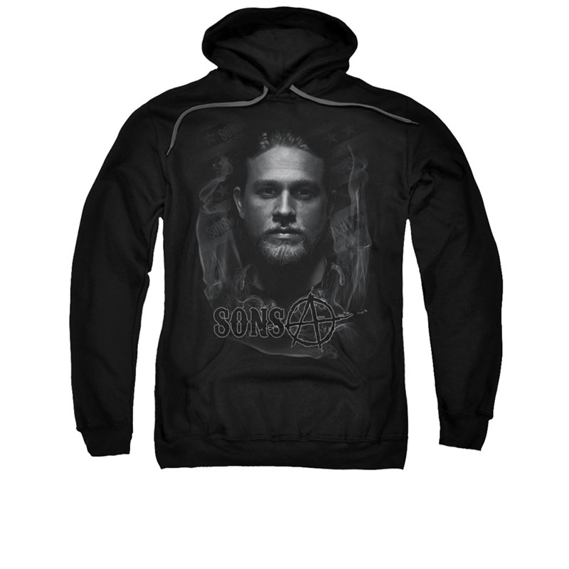 Sons Of Anarchy Jax Smoke Black Pullover Hoodie