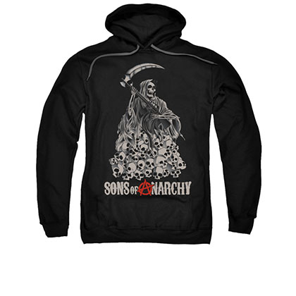 Sons Of Anarchy Pile Of Skulls Black Pullover Hoodie
