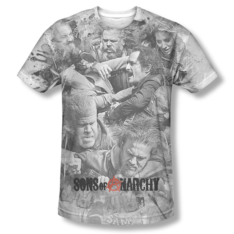 Sons Of Anarchy Brawl Sublimation T-Shirt