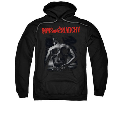 Sons Of Anarchy Back Skull Black Pullover Hoodie